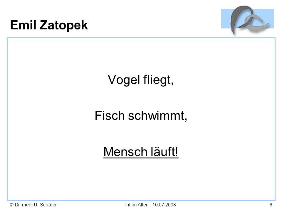Emil Zatopek Vogel fliegt, Fisch schwimmt, Mensch läuft!