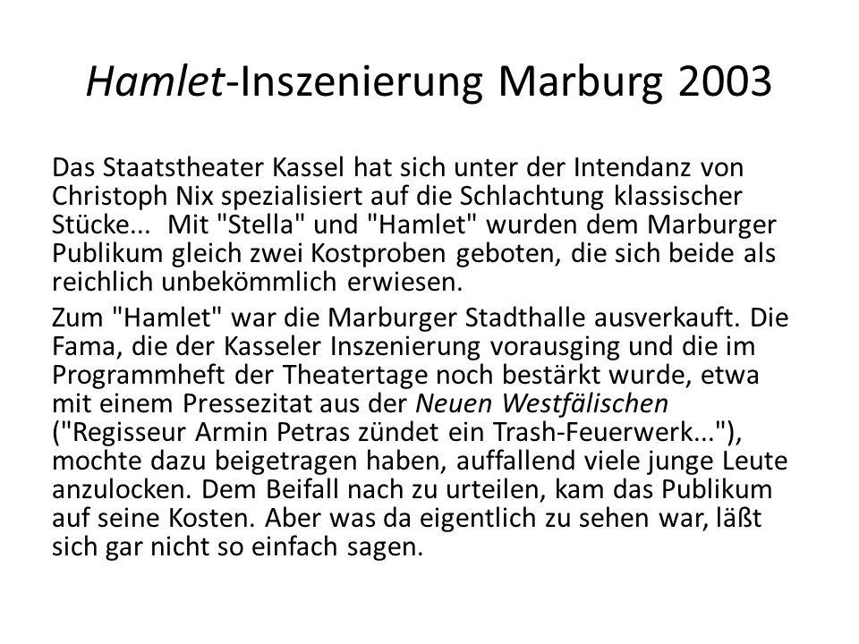 Hamlet-Inszenierung Marburg 2003