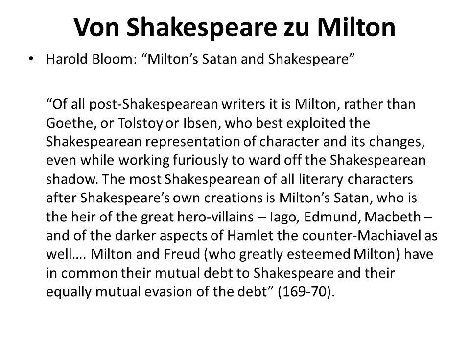 Von Shakespeare zu Milton