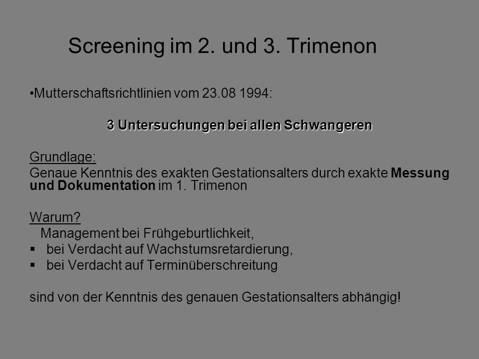 Screening im 2. und 3. Trimenon