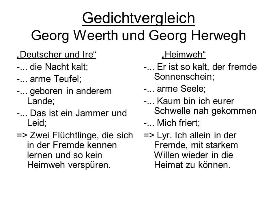 Gedichtvergleich Georg Weerth und Georg Herwegh