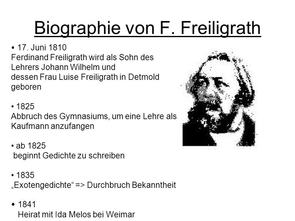 Biographie von F. Freiligrath