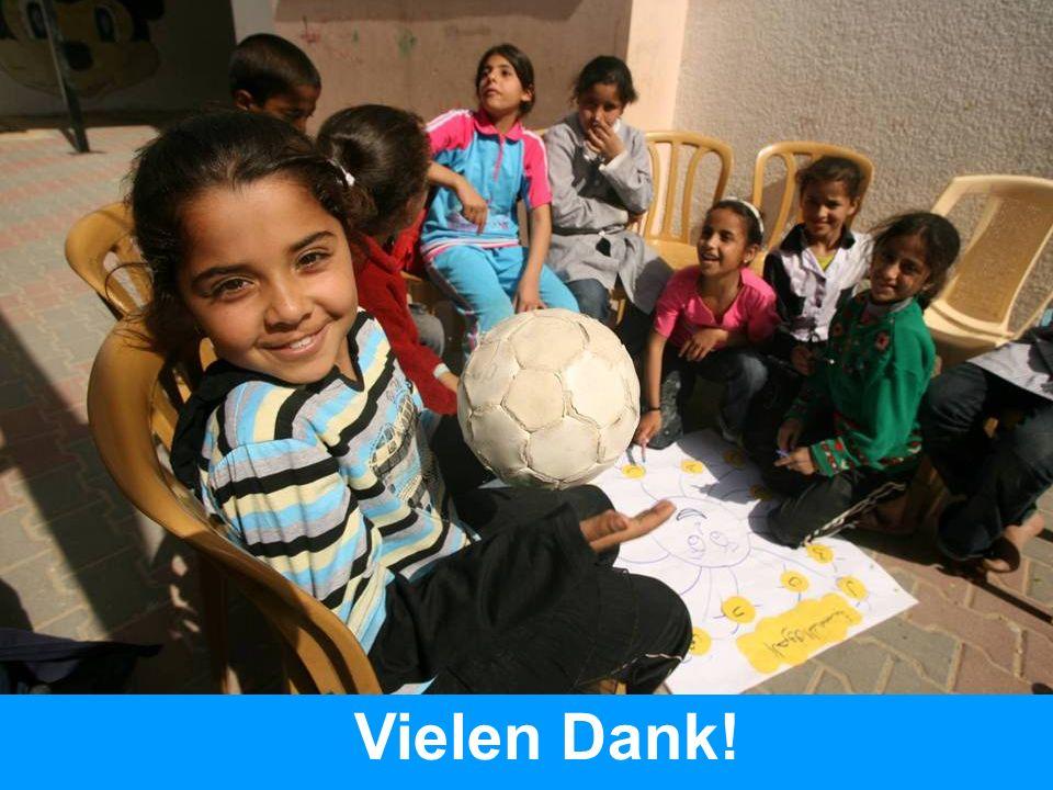 Foto: Betreuungsangebot für Kinder in den besetzten palästinensischen Gebieten.
