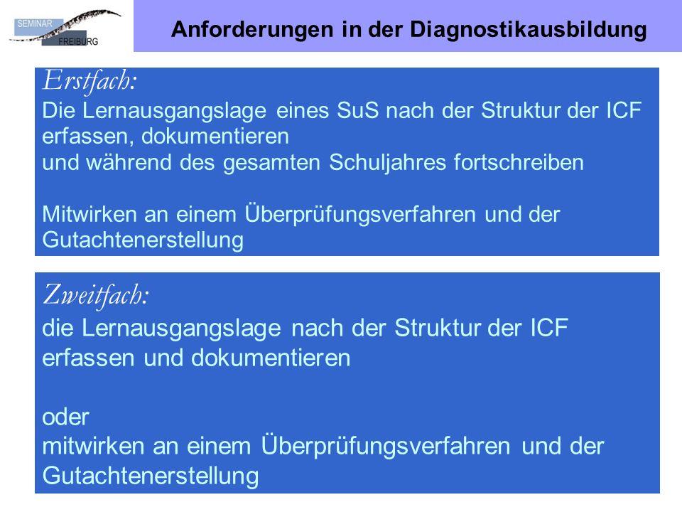 Anforderungen in der Diagnostikausbildung