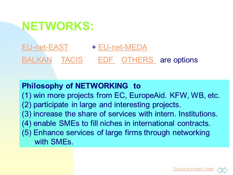 NETWORKS: EU-net-EAST + EU-net-MEDA