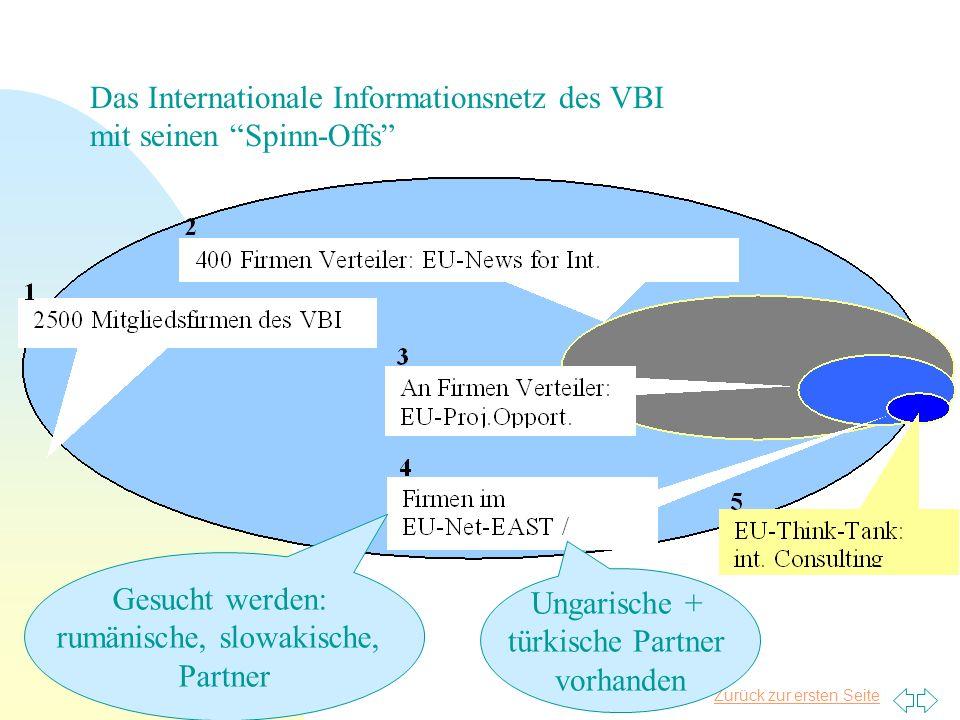Das Internationale Informationsnetz des VBI mit seinen Spinn-Offs