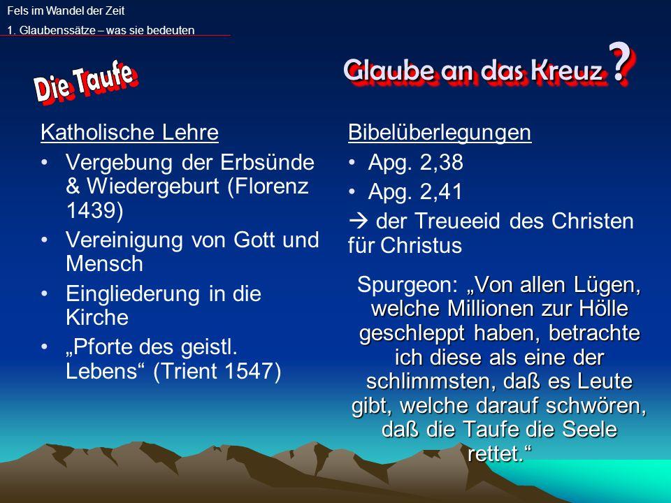 Glaube an das Kreuz Die Taufe Katholische Lehre