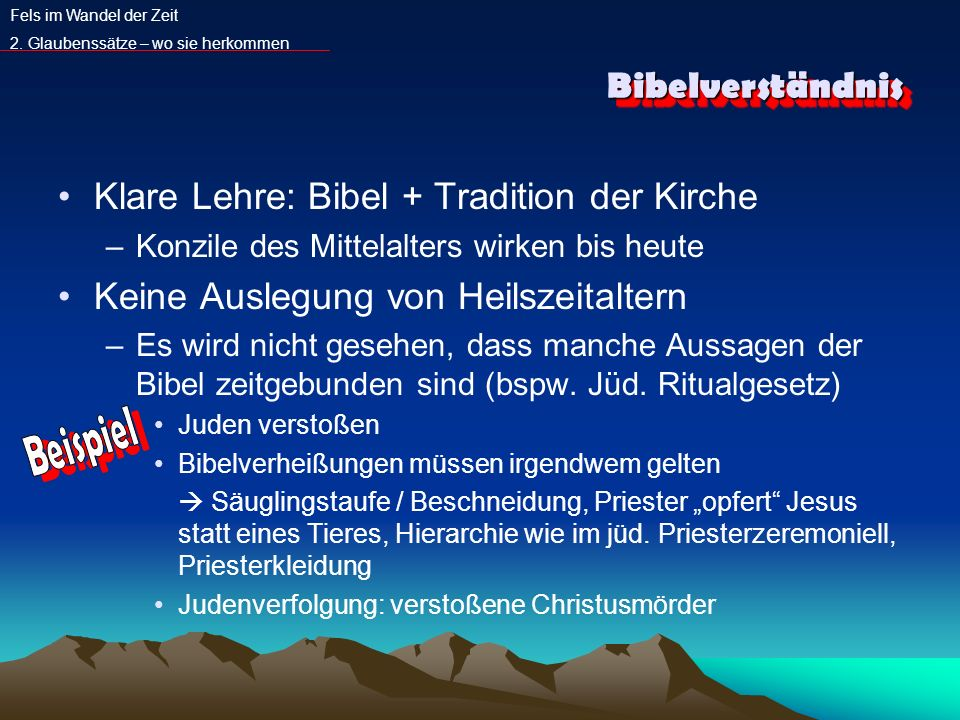 Klare Lehre: Bibel + Tradition der Kirche
