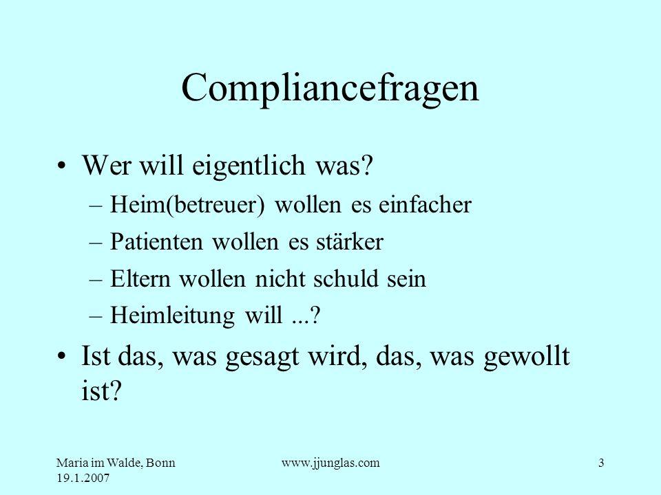 Compliancefragen Wer will eigentlich was