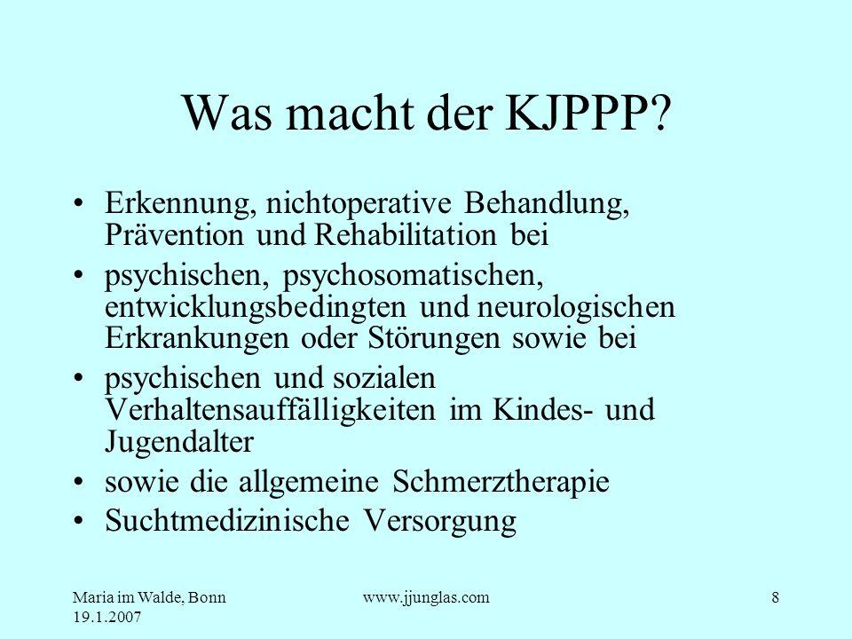 Was macht der KJPPP Erkennung, nichtoperative Behandlung, Prävention und Rehabilitation bei.