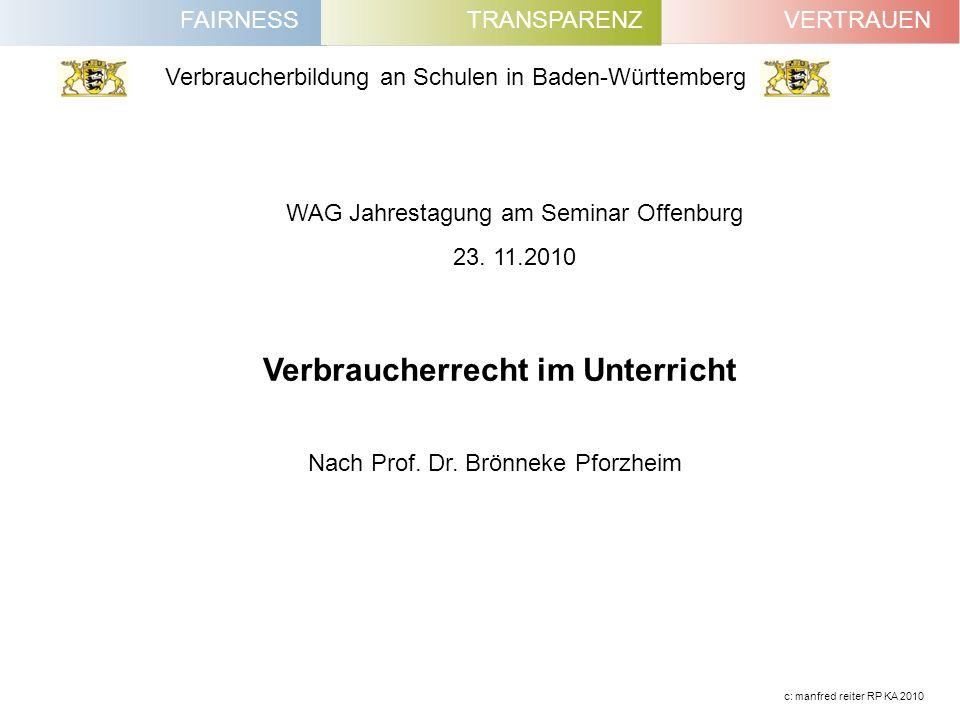 WAG Jahrestagung am Seminar Offenburg