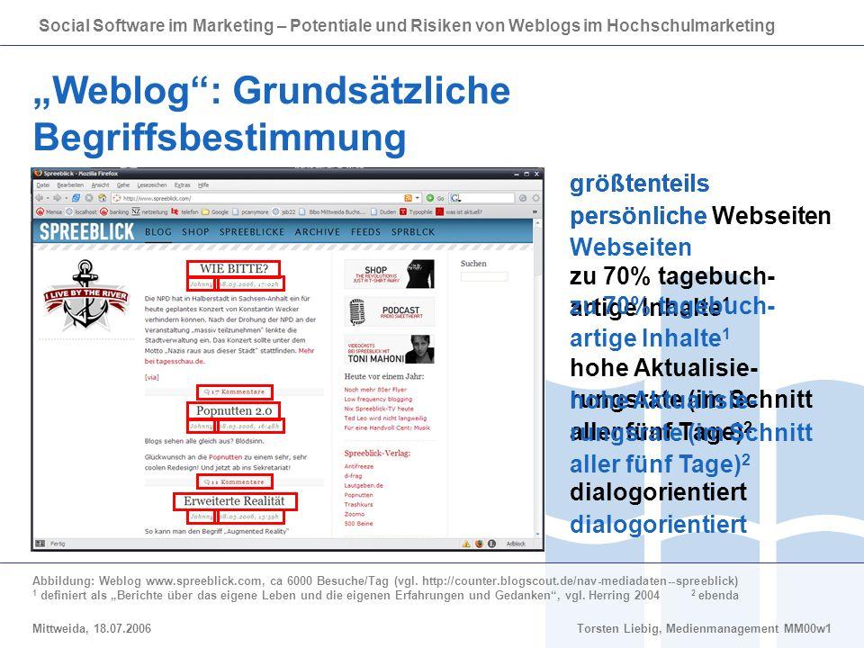 """""""Weblog : Grundsätzliche Begriffsbestimmung"""
