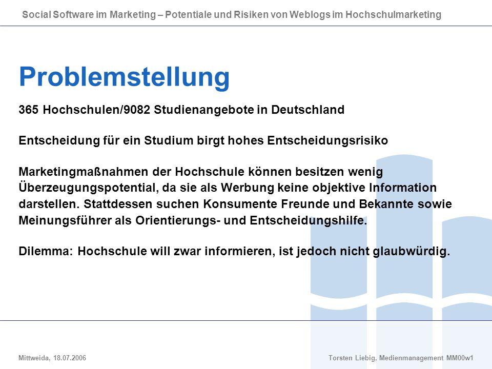 Problemstellung 365 Hochschulen/9082 Studienangebote in Deutschland