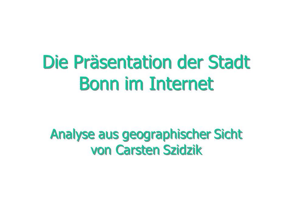 Die Präsentation der Stadt Bonn im Internet
