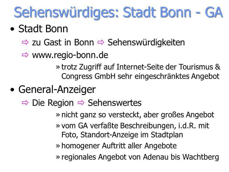 Sehenswürdiges: Stadt Bonn - GA