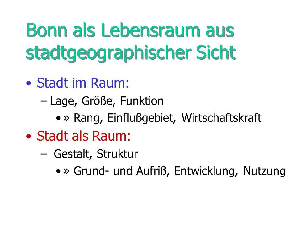 Bonn als Lebensraum aus stadtgeographischer Sicht