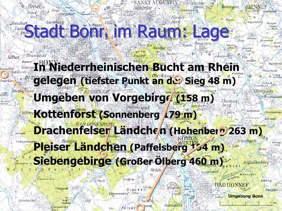 Stadt Bonn im Raum: Lage