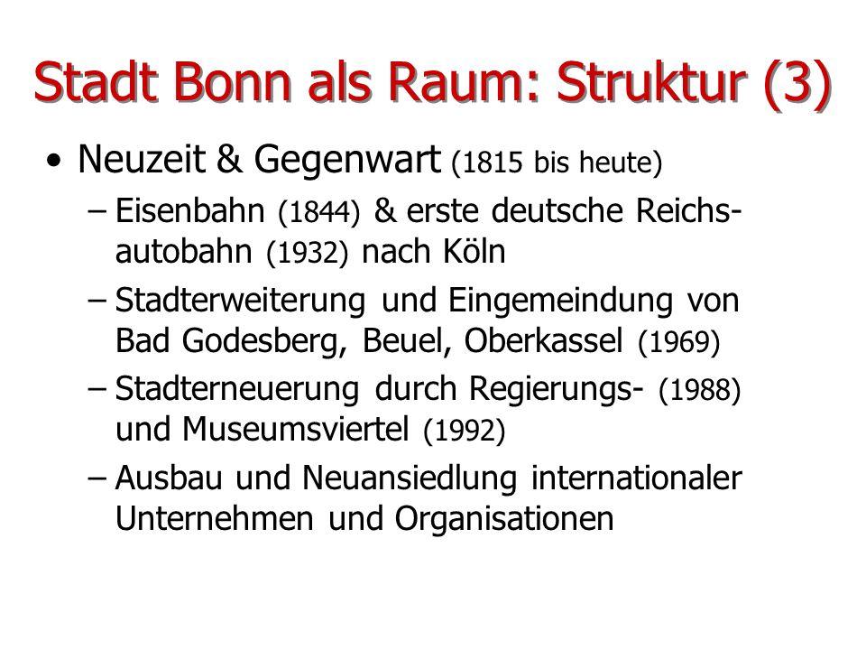Stadt Bonn als Raum: Struktur (3)