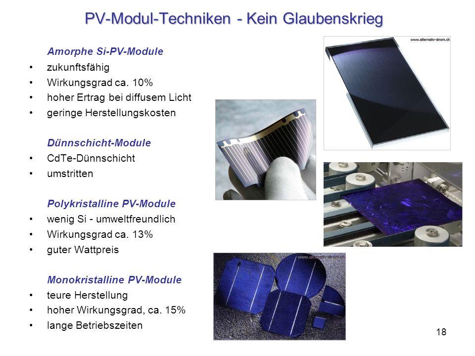 PV-Modul-Techniken - Kein Glaubenskrieg
