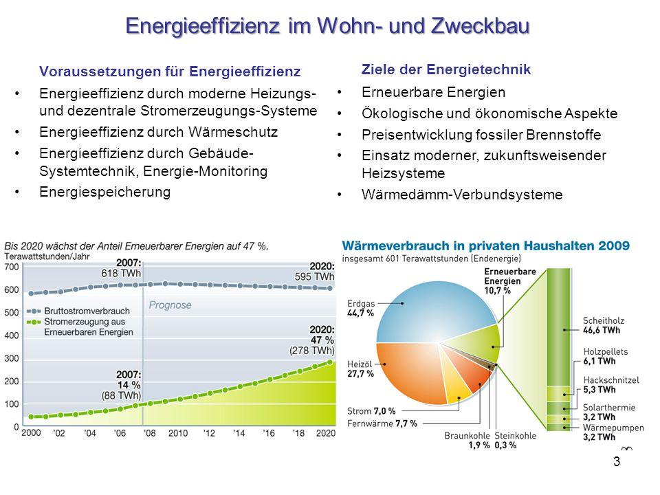 Energieeffizienz im Wohn- und Zweckbau