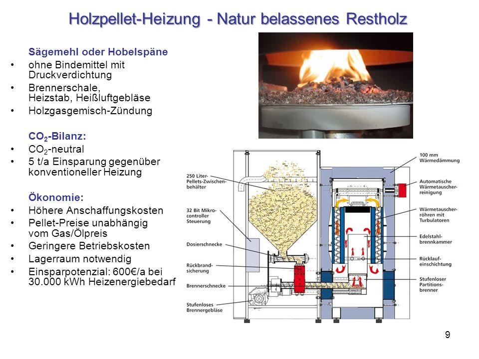 Holzpellet-Heizung - Natur belassenes Restholz
