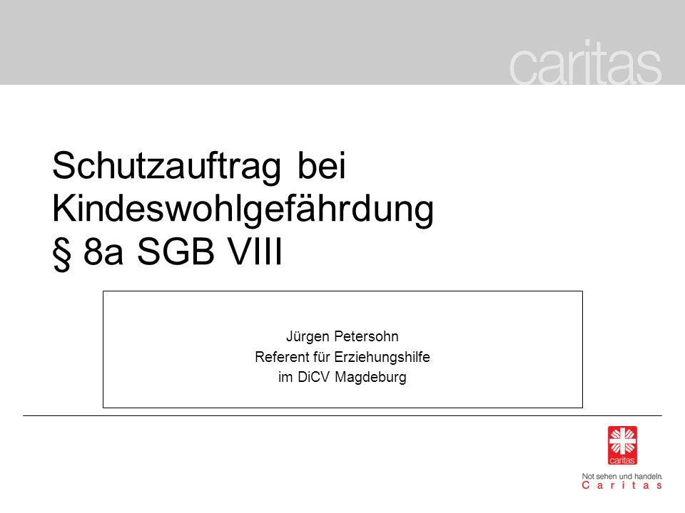 Schutzauftrag bei Kindeswohlgefährdung § 8a SGB VIII