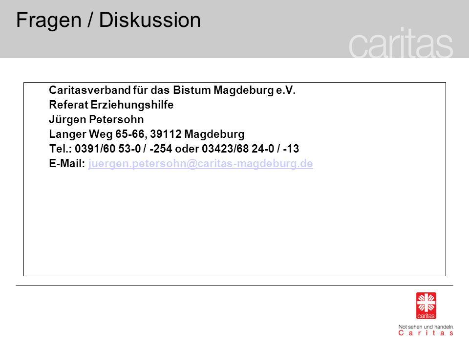 Fragen / Diskussion Caritasverband für das Bistum Magdeburg e.V.