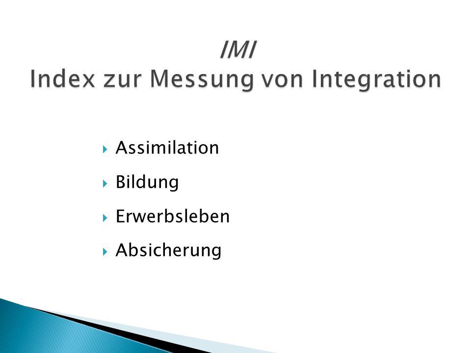 IMI Index zur Messung von Integration