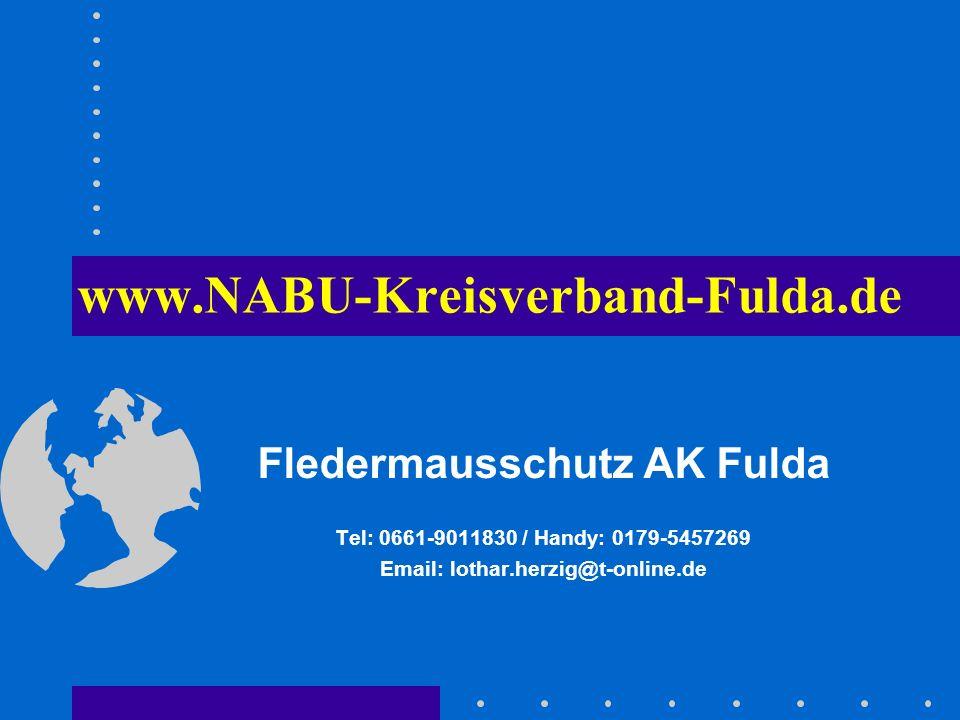 Fledermausschutz AK Fulda Email: lothar.herzig@t-online.de
