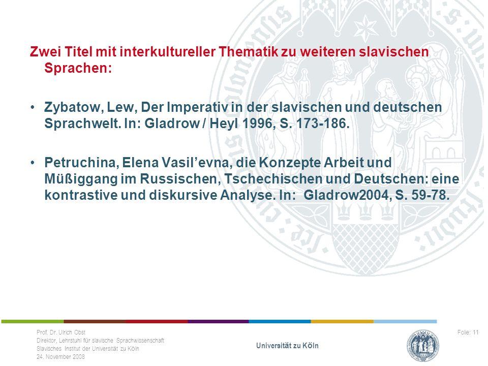 Zwei Titel mit interkultureller Thematik zu weiteren slavischen Sprachen: