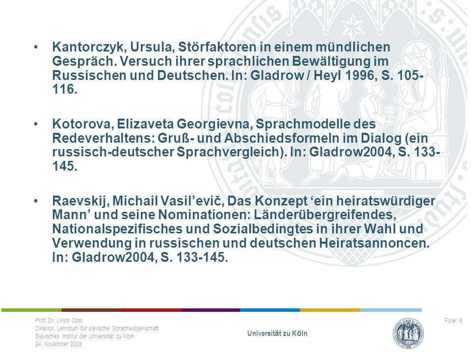 Kantorczyk, Ursula, Störfaktoren in einem mündlichen Gespräch