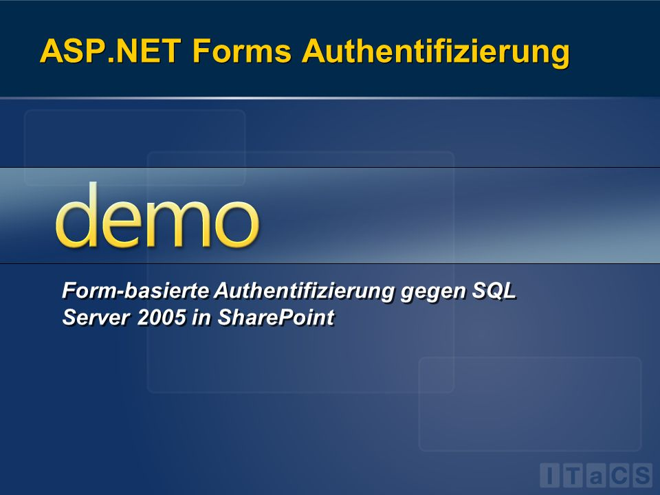 ASP.NET Forms Authentifizierung