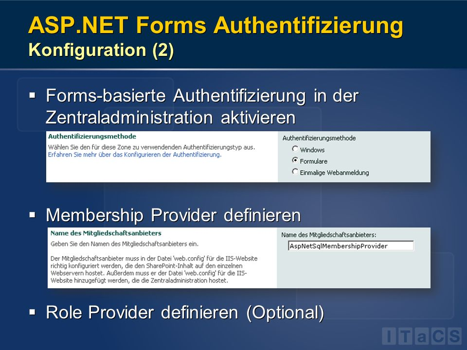 ASP.NET Forms Authentifizierung Konfiguration (2)