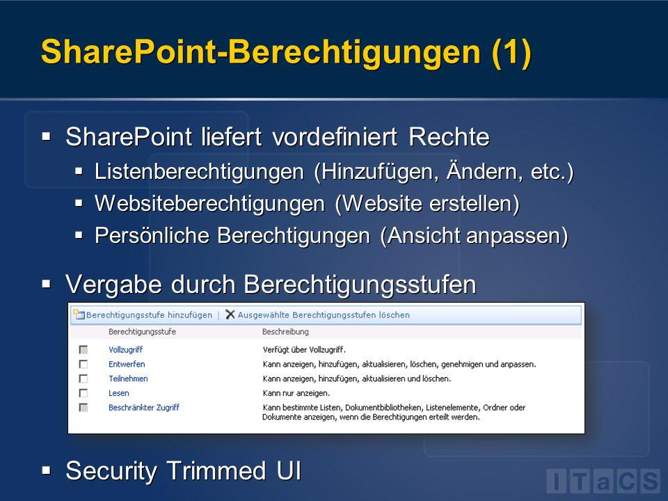 SharePoint-Berechtigungen (1)