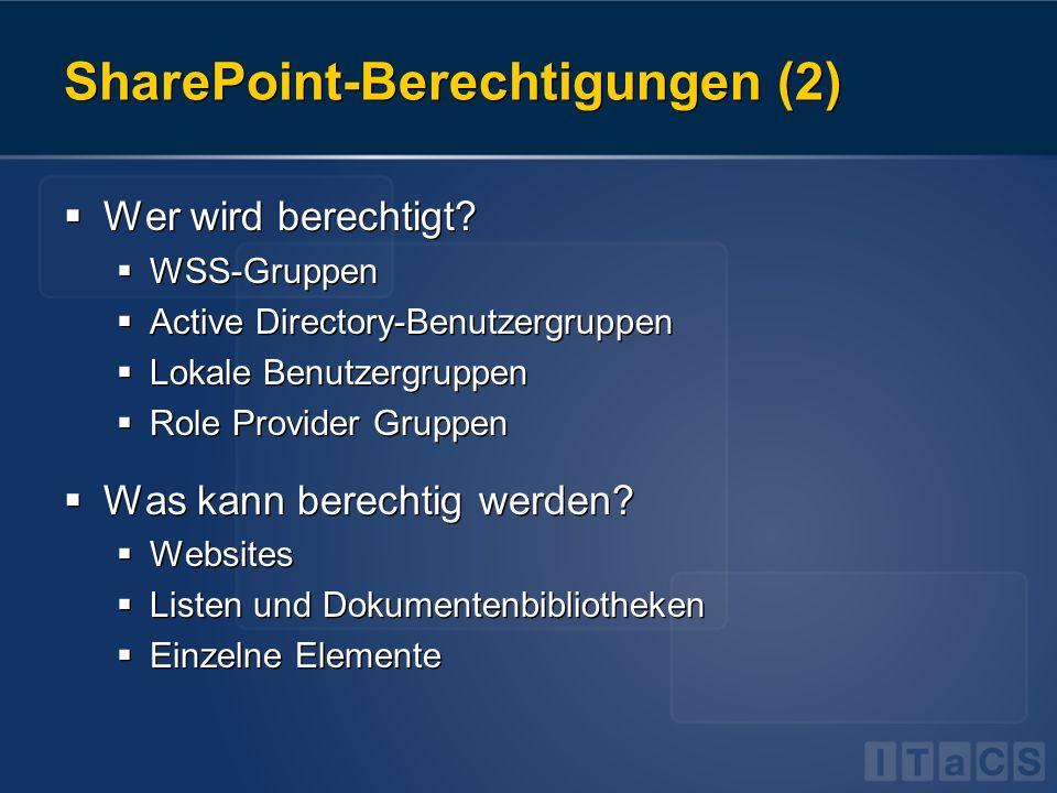 SharePoint-Berechtigungen (2)