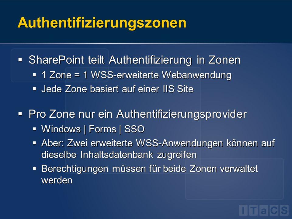 Authentifizierungszonen