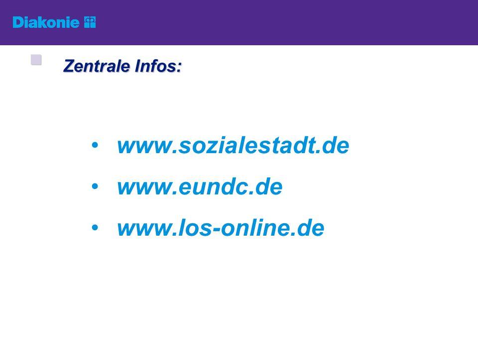 Zentrale Infos: www.sozialestadt.de www.eundc.de www.los-online.de