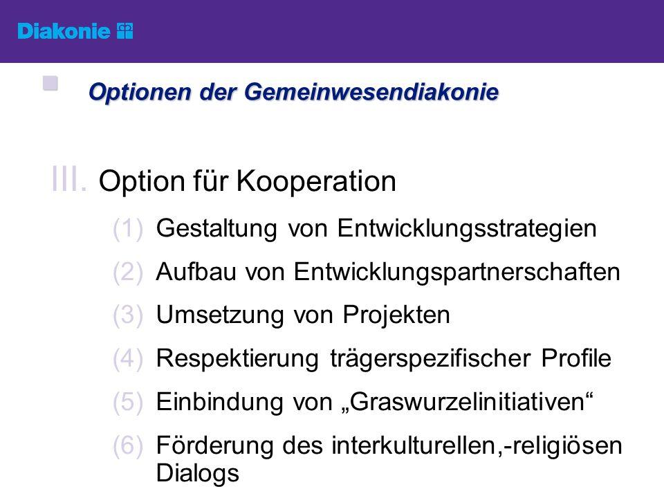 Optionen der Gemeinwesendiakonie