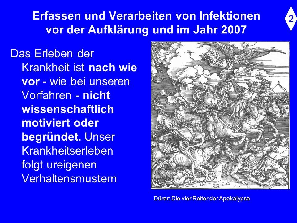 Erfassen und Verarbeiten von Infektionen vor der Aufklärung und im Jahr 2007