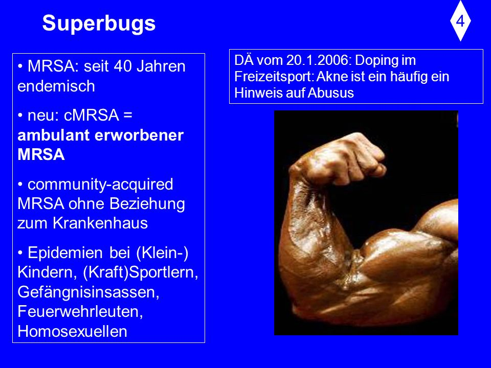 Superbugs 4 MRSA: seit 40 Jahren endemisch