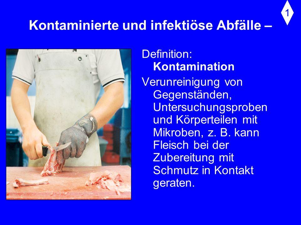 Kontaminierte und infektiöse Abfälle –
