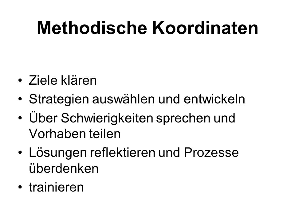 Methodische Koordinaten