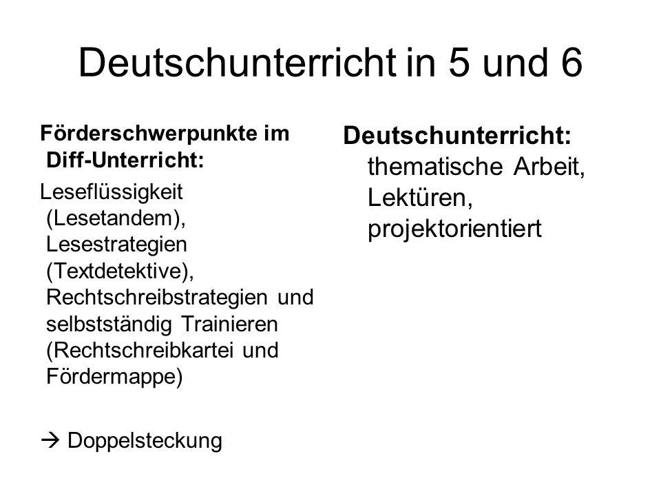 Deutschunterricht in 5 und 6