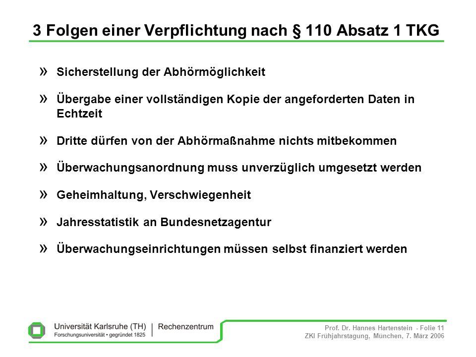 3 Folgen einer Verpflichtung nach § 110 Absatz 1 TKG