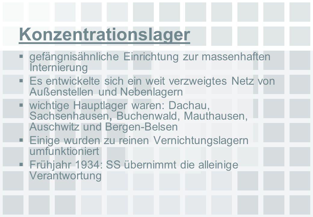Konzentrationslager gefängnisähnliche Einrichtung zur massenhaften Internierung.