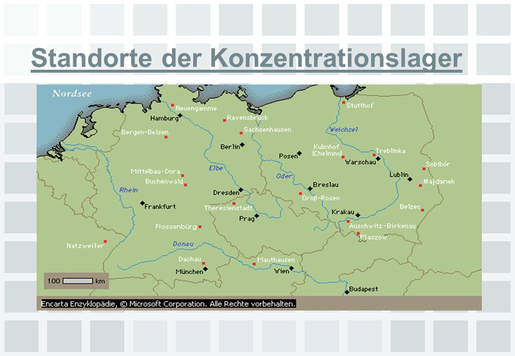 Standorte der Konzentrationslager
