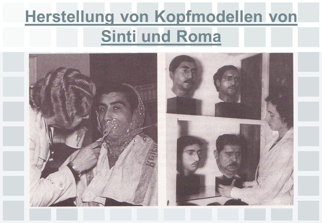 Herstellung von Kopfmodellen von Sinti und Roma