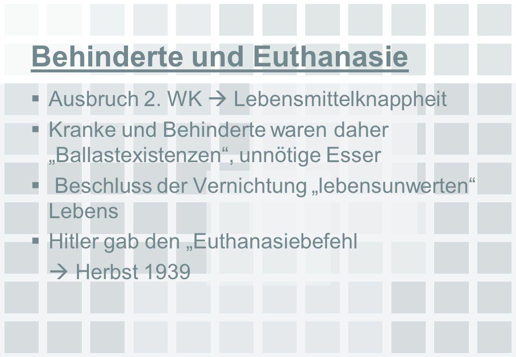 Behinderte und Euthanasie
