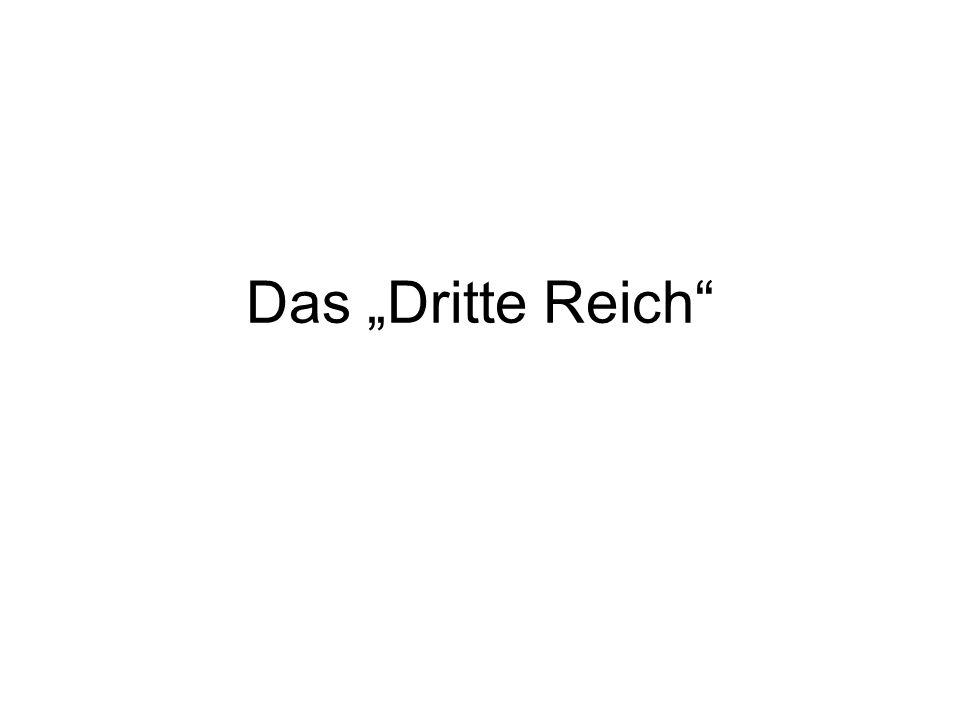 "Das ""Dritte Reich"