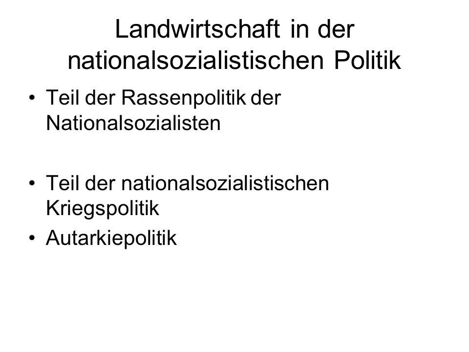 Landwirtschaft in der nationalsozialistischen Politik